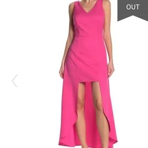 One One Six Davos Sleeveless High/Low Crepe Dress